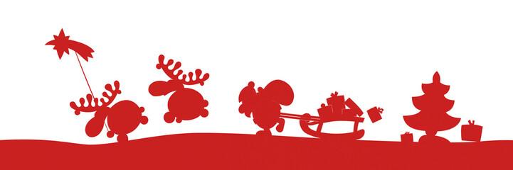Santa en route