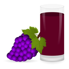 grapes and fruit juice