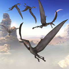 Dorygnathus Flying Reptiles - The Dorygnathus reptile was a predatory flying dinosaur that lived in the Jurassic Period of Europe.
