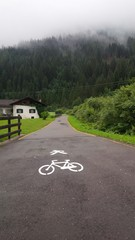 pista ciclabile di montagna