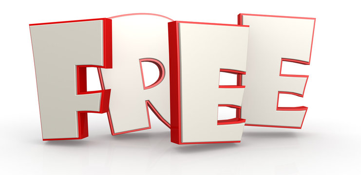 Free word with white background image with hi-res rendered artwo