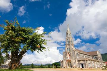 Stone church at Don Duong town, near Dalat city, Lam Dong, Vietnam