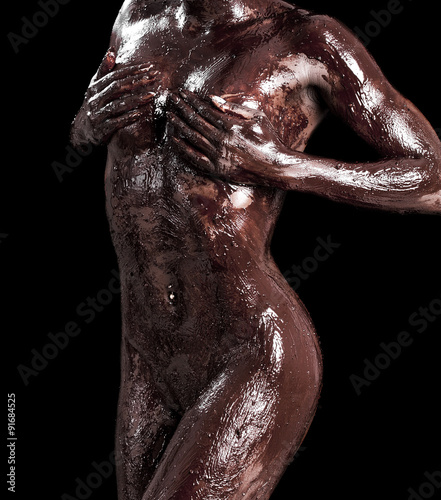 Girls with chocolate coverd boobs