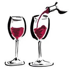 ワイン/注いでいる