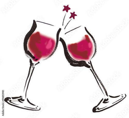 ワイン乾杯fotoliacom の ストック写真とロイヤリティフリーの画像
