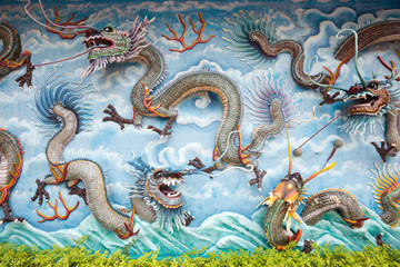 Wall of dragons, Singapore