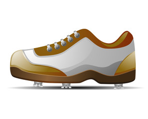 Golf shoe vector icon image