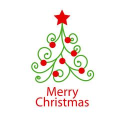 vector logo decorative Christmas tree