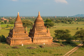 Old twin pagoda in Bagan, Myanmar