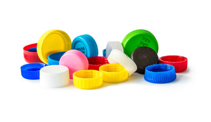 colorful bottle caps