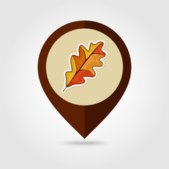 Autumn Leaves mapping pin icon