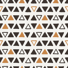 Vector seamless texture of hand-painted triangles