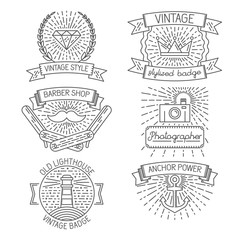 Set of abstract badges, labels, design elements and templates in