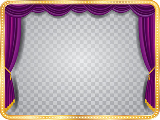 transparent purple stage