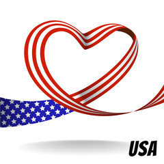 Vector country ribbon design with heart concept