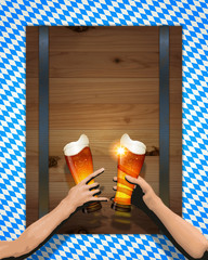Oktoberfest background(Board and Cheers)