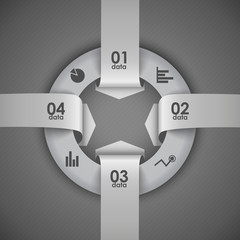 four arrows going in a circle element vector infographics