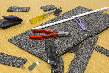 Werkzeug Teppichboden
