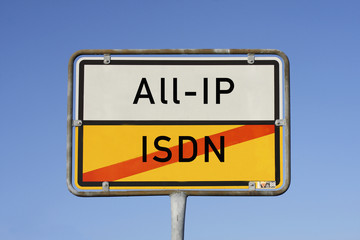 Schild ISDN All-IP