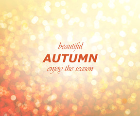 Autumn season abstract background