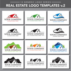 12 Generic Logo Series - Real Estate Logo Template v2