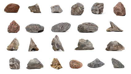 Big Collection stones  isolated Fototapete