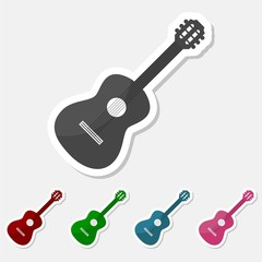 Guitar sticker set