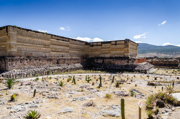 Archaeological site of Mitla in Mexico