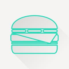 Vector burger icon.