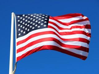 Bannière des U.S.A. ' au vent '