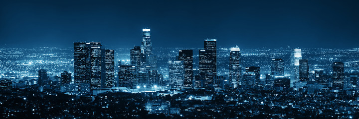 Los Angeles at night Wall mural