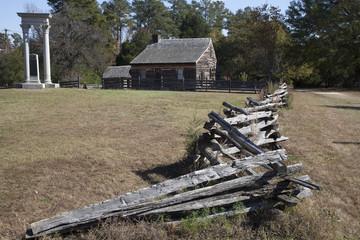 Log home and split rail fence 2015-09-21