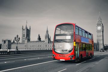 Foto op Aluminium Londen rode bus Bus in London