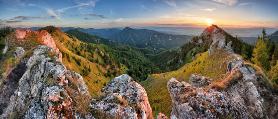 Green mountain nature landscape in Slovakia peak Ostra