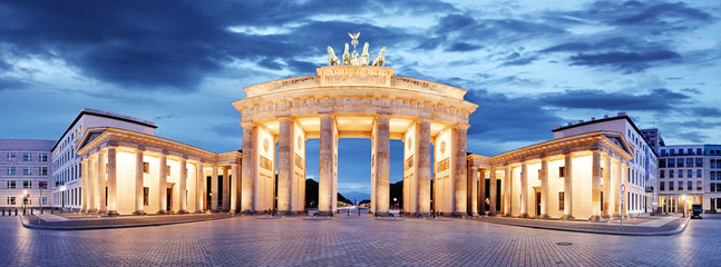 In de dag Berlijn Brandenburg Gate, Berlin, Germany - panorama