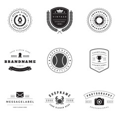 Retro Logotypes vector set