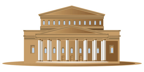 Vector stock illustration. Abstract image of the theater buildin