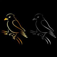 Logo for exotic bird business- a beautiful kingfisher
