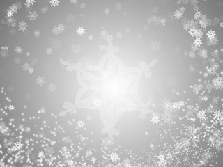Winter Snowflakes Poster for Xmas