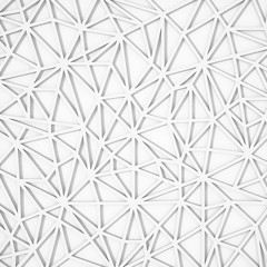 Abstract 3d white geometric shape background