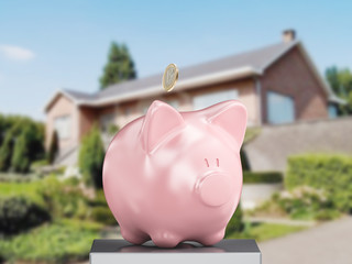 Salvadanaio risparmio porcellino casa