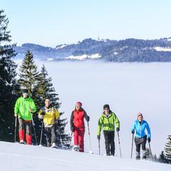 Schneeschuh-Tour über den Wolken