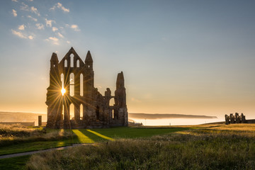 Papiers peints Ruine Sun Star on Whitby Abbey
