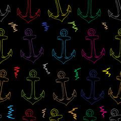 Seamless color anchors contour