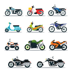 Motorcycle Riders, Bikers, Multicolor