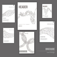 Vector  set of cover brochure templates for your business with