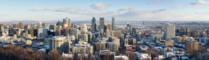 Montreal in winter panorama