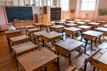 Classroom in Scotland Street School.