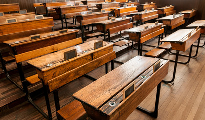 Classroom in Scotland Street School.