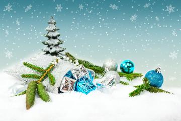 Weihnachtsgeschenke im Säckchen